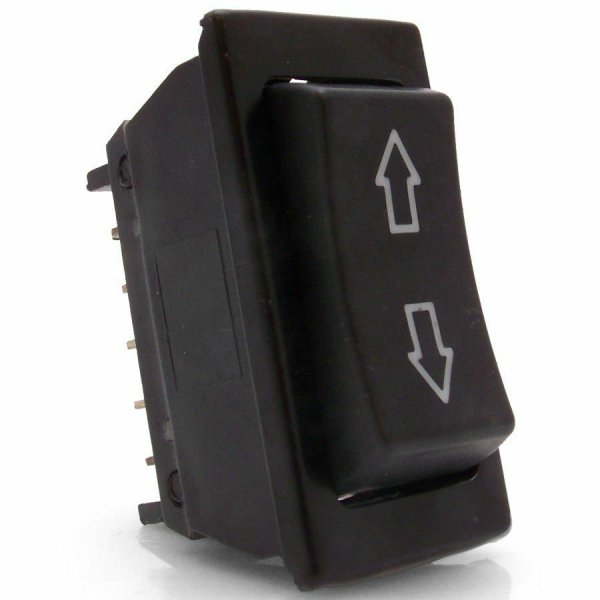 Illuminated 3 Position Rocker Switch With Arrows