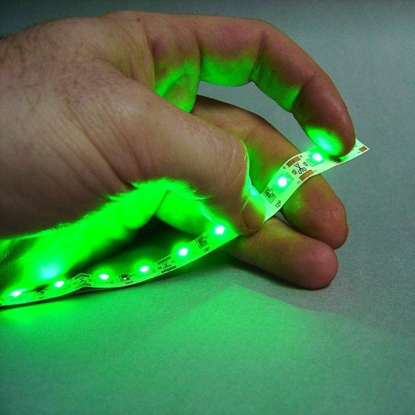 Ultra Thin 12V LED Tape Green 12 Inches    Keep It Clean Wiring