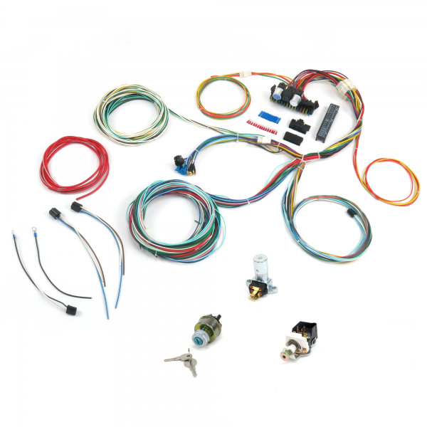 600 procomp ultra small 15 fuse 24 circuit 118 terminal wire harness painless wiring harness 1955 chevy at aneh.co