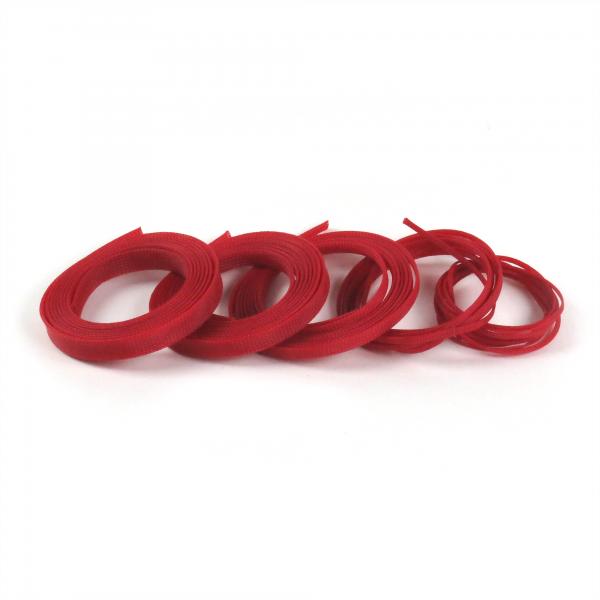 "1"" Red Ultra Wrap Wire Loom - 50 Feet || Keep It Clean Wiring"