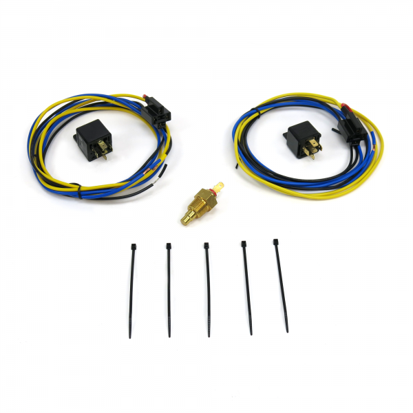 Peachy Dual Electric Cooling Fan Relay Kit With Thermostat Keep It Clean Wiring 101 Breceaxxcnl