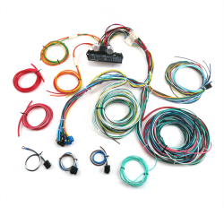 15 fuse 24 circuit 118 terminal deluxe compact wire harness system    keep  it clean wiring  keep it clean wiring